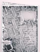Glastür gelasert mit Motiv Art Design