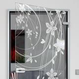 Glastür gelasert mit Motiv Flower Ornaments I