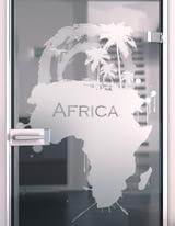 Glastür gelasert mit Motiv My Africa