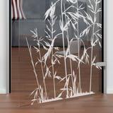 Glastür gelasert mit Motiv Gras
