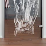 Glastür gelasert mit Motiv Körper