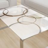 Glastischplatte satiniert mit Motiv - Ringe